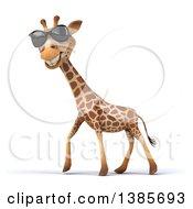 Poster, Art Print Of 3d Giraffe On A White Background