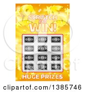Clipart Of A Scratch And Win Lottery Ticket Royalty Free Vector Illustration by AtStockIllustration