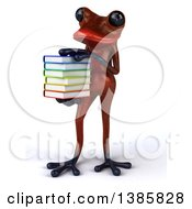 Clipart Of A 3d Red Frog On A White Background Royalty Free Illustration