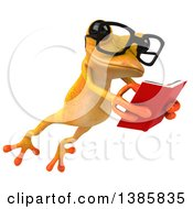 Clipart Of A 3d Yellow Frog On A White Background Royalty Free Illustration