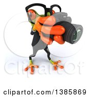 Clipart Of A 3d Green Business Springer Frog On A White Background Royalty Free Illustration
