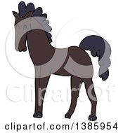 Clipart Of A Cartoon Horse Royalty Free Vector Illustration