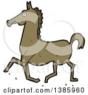 Cartoon Brown Horse