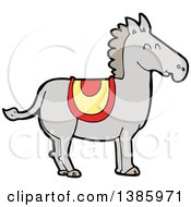 Clipart Of A Cartoon Horse Royalty Free Vector Illustration by lineartestpilot