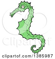 Clipart Of A Seahorse Royalty Free Vector Illustration by lineartestpilot
