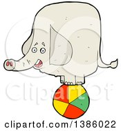 Clipart Of A Cartoon Elephant Royalty Free Vector Illustration