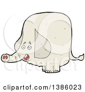 Clipart Of A Cartoon Elephant Royalty Free Vector Illustration by lineartestpilot