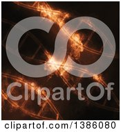 Clipart Of A Background Of Diagonal DNA Strands With Smoke Royalty Free Illustration by KJ Pargeter