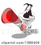 Clipart Of A Cartoon Jack Russell Terrier Dog On A White Background Royalty Free Vector Illustration