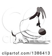 Clipart Of A Cartoon Jack Russell Terrier Dog On A White Background Royalty Free Illustration