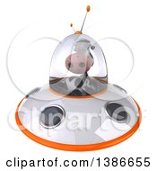 Clipart Of A 3d Cow Flying A Ufo On A White Background Royalty Free Illustration