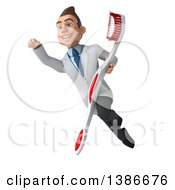 Clipart Of A 3d Young White Male Dentist On A White Background Royalty Free Illustration