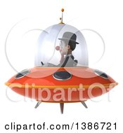 Clipart Of A 3d White And Black Clown On A White Background Royalty Free Illustration