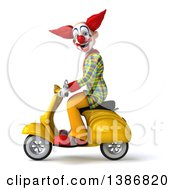 Clipart Of A 3d Funky Clown On A White Background Royalty Free Vector Illustration