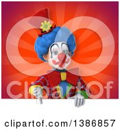Clipart Of A 3d Colorful Clown Royalty Free Illustration