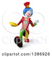 Clipart Of A 3d Colorful Clown On A White Background Royalty Free Illustration