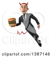 Clipart Of A 3d Young White Devil Business Man On A White Background Royalty Free Vector Illustration