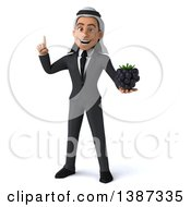 Clipart Of A 3d Young Arabian Business Man Holding A Blackberry On A White Background Royalty Free Vector Illustration