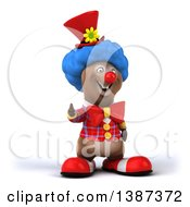 Clipart Of A Brown Bear Clown On A White Background Royalty Free Vector Illustration by Julos