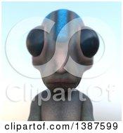 3d Alien Avatar Over Gradient