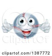 Poster, Art Print Of Cartoon Happy Baseball Character Giving Two Thumbs Up