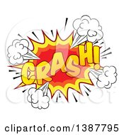 Clipart Of A Comic Styled Crash Explosion Burst Royalty Free Vector Illustration