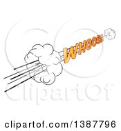 Clipart Of A Comic Styled Whoosh Speed Design Element Royalty Free Vector Illustration by AtStockIllustration
