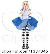 Worried Giant Alice In Wonderland