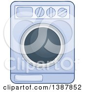 Clipart Of A Cartoon Laundry Washing Machine Royalty Free Vector Illustration by visekart