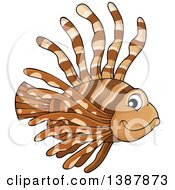Clipart Of A Saltwater Marine Lionfish Royalty Free Vector Illustration