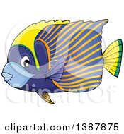 Clipart Of A Striped Saltwater Marine Fish Royalty Free Vector Illustration