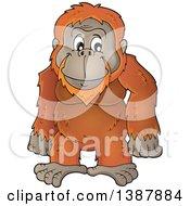 Cartoon Happy Orangutan Monkey