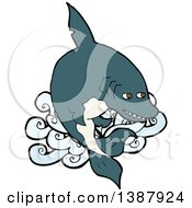 Clipart Of A Shark Royalty Free Vector Illustration by lineartestpilot