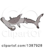 Clipart Of A Hammerhead Shark Royalty Free Vector Illustration