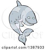 Clipart Of A Cartoon Shark Royalty Free Vector Illustration