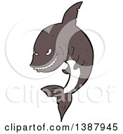 Clipart Of A Shark Royalty Free Vector Illustration