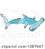 Clipart Of A Hammerhead Shark Royalty Free Vector Illustration by lineartestpilot
