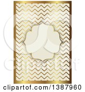 Clipart Of A Beige And Gold Ornate Wedding Invitation Or Menu Design With A Frame For Text Space Royalty Free Vector Illustration by KJ Pargeter