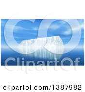 Clipart Of A 3d Iceberg In The Ocean On A Sunny Day Royalty Free Illustration by KJ Pargeter