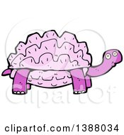 Clipart Of A Cartoon Tortoise Turtle Royalty Free Vector Illustration by lineartestpilot