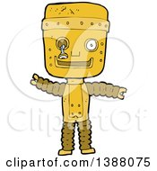 Clipart Of A Cartoon Robot Royalty Free Vector Illustration by lineartestpilot
