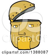 Clipart Of A Cartoon Robot Face Royalty Free Vector Illustration by lineartestpilot