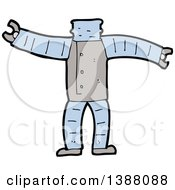 Clipart Of A Cartoon Headless Robot Body Royalty Free Vector Illustration by lineartestpilot