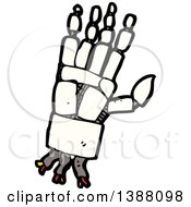 Clipart Of A Cartoon Robot Hand Royalty Free Vector Illustration by lineartestpilot