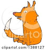 Clipart Of A Cartoon Fox Royalty Free Vector Illustration by lineartestpilot
