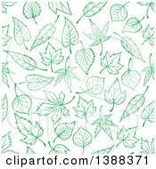 Seamless Background Pattern Of Green Leaves
