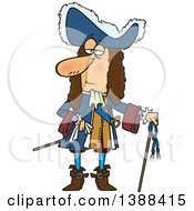 Clipart Of A Cartoon Man Louis The Great King Of France Royalty Free Vector Illustration by toonaday