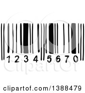 Clipart Of A Black And White Bar Code Royalty Free Vector Illustration by Vector Tradition SM