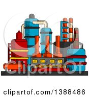 Clipart Of A Sketched Factory Complex Royalty Free Vector Illustration by Vector Tradition SM
