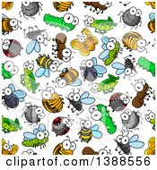 Clipart Of A Seamless Background Pattern Of Insects Royalty Free Vector Illustration by Vector Tradition SM